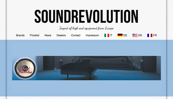 New web page for Soundrevolution.ch