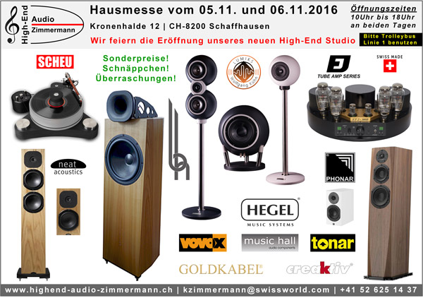 Opening High End Audio Zimmermann